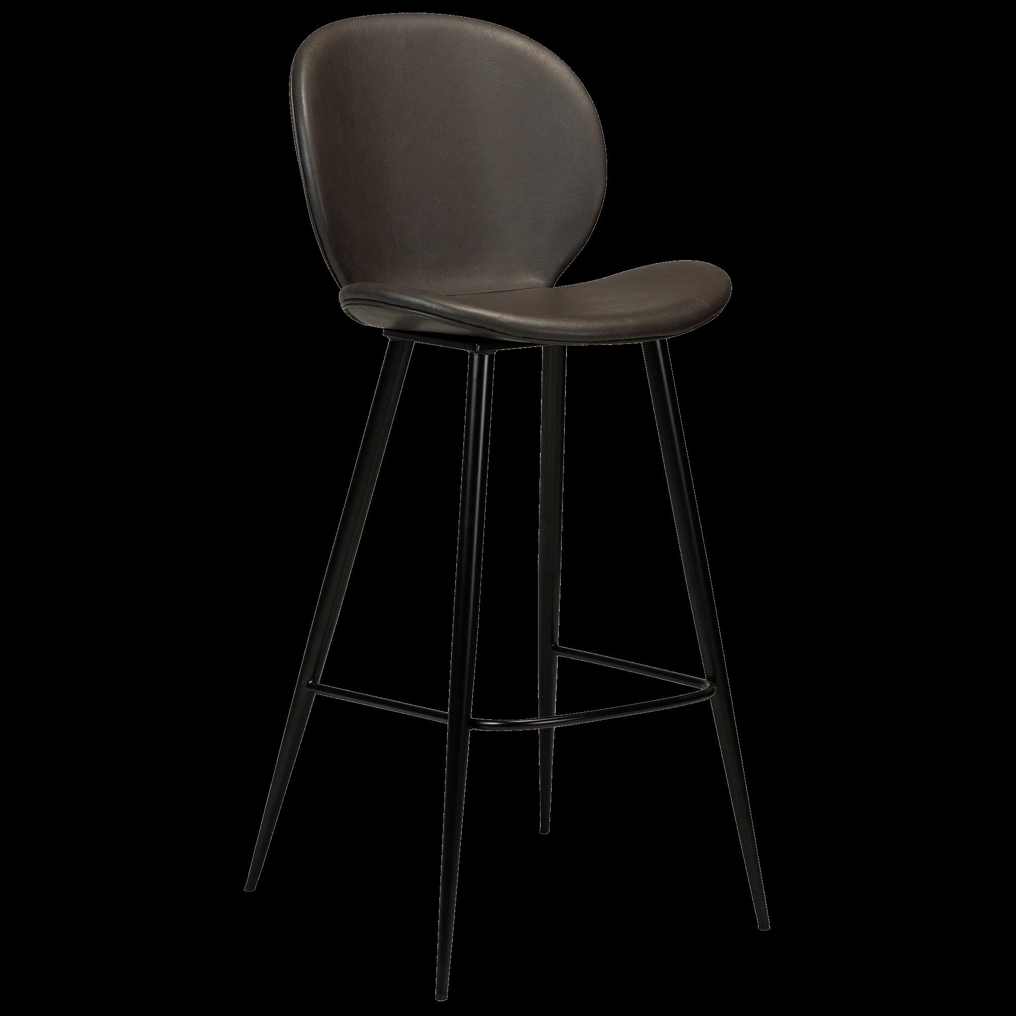 CLOUD Bar Stool Black Conical Metal Legs