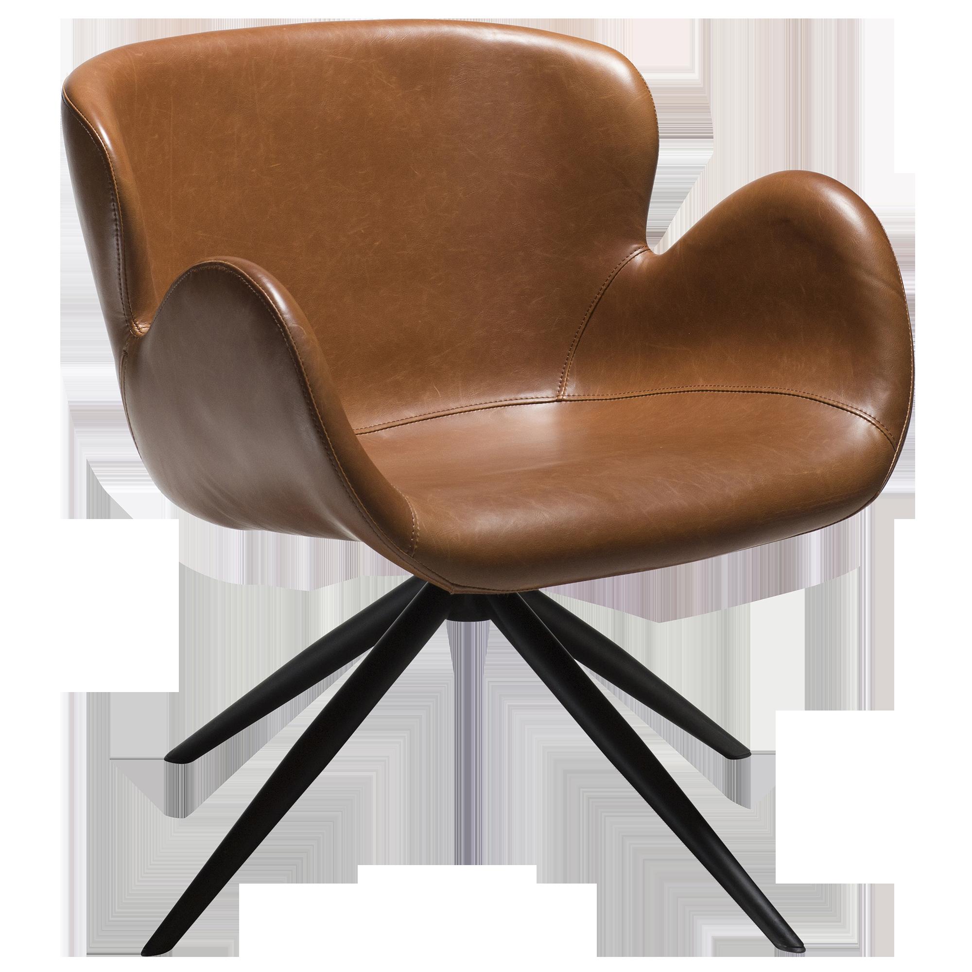 Gaia Lounge Chair Black Metal Spider Legs